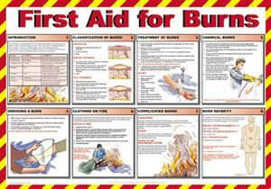 647 First aid for burns poster