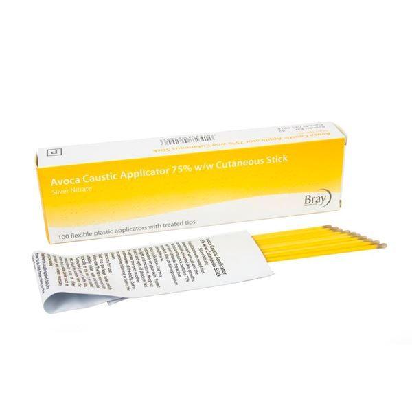 AVOCA Caustic 6 Inch Bendable Handle Applicator 75% - 100pk - 0450874A