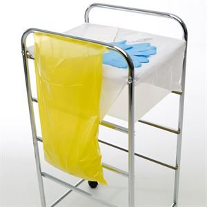 AHP2447 YELLOW CLINICAL WASTE BAGS MEDIUM ROLL OF 200  PM2966 - edit