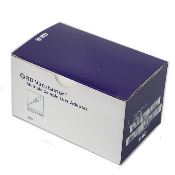 BD Vacutainer Luer Adapter (367300) 100 Pack AHP2406