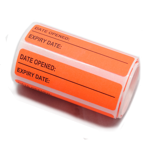 Date opened Expiry Labels 1 Roll AHP2084