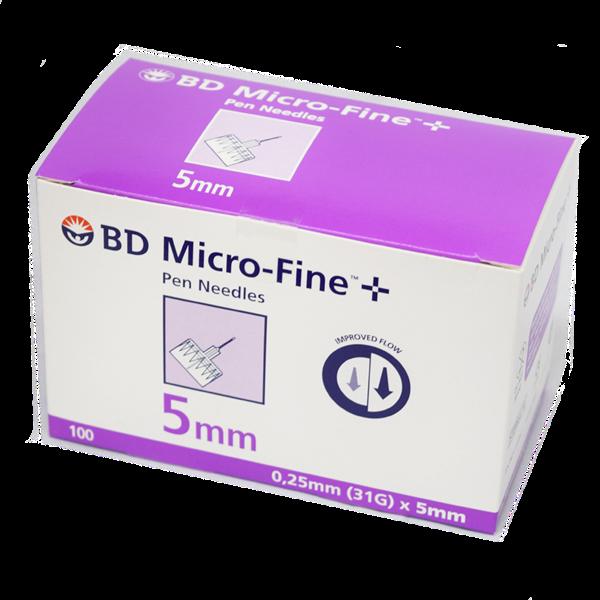 BD Microfine + Pen Needles Packs of 100 5mm 31g 2438554