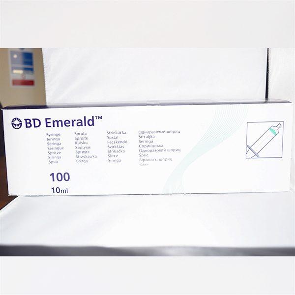 AHP5627-BD Emerald Luer Slip Hypodermic Syringe 10ml-100pk
