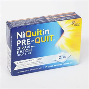 NIQUITIN 21MG PRE QUIT CLEAR PATCH 7 3745403