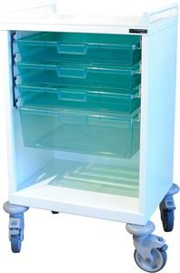 Care Tray Trolley with handles