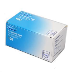 Alvita Pre-injection Wipes Pack of 100 3665452